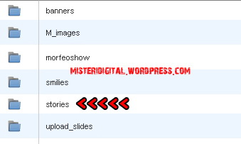 Folder STORIES Joomla