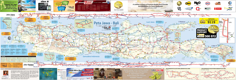 Peta Mudik 2013 Sumatera, Jawa, dan Bali